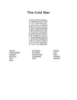 The Cold War Word Search