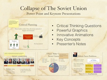 The Collapse of The Soviet Union Power Point and Keynote Presentations