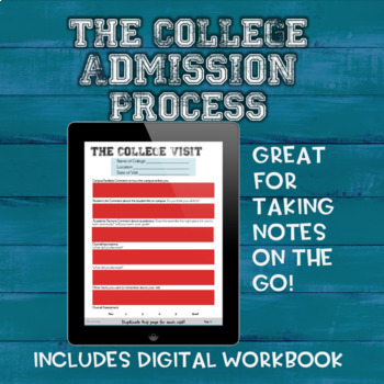 The College Admission Process Workbook