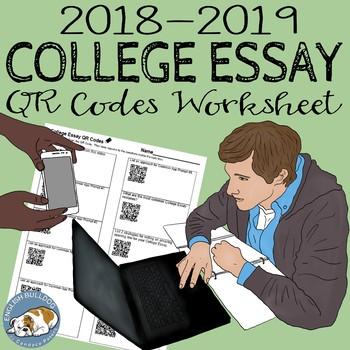The College Essay QR Codes Worksheet