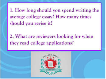 The College Essay Writing Workshop