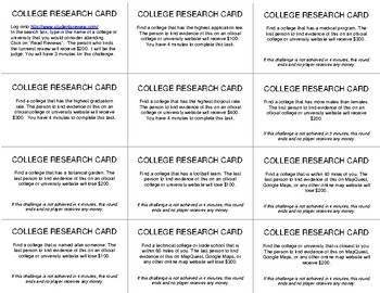 The College Research Game