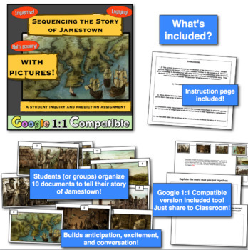 The Colony at Jamestown:  A Mini-Unit!  3 Activities to teach Jamestown!