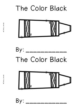 The Color Black {Emergent Readers & Posters}