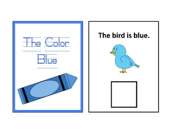 The Color Blue Adapted Book - Differentiated- interactive #thankyou17