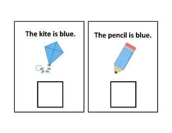 The Color Blue Adapted Book - Differentiated- interactive