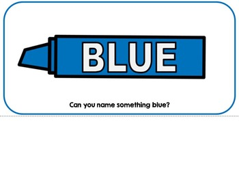 The Color Blue- Adapted Interactive Book {Autism, Early Childhood, Special Ed}