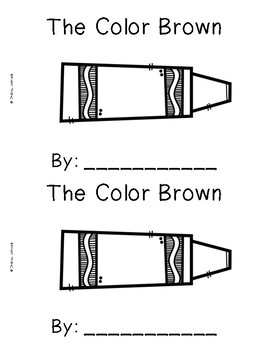 The Color Brown {Emergent Readers & Posters}