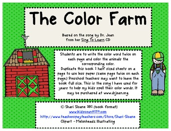 The Color Farm - Color Word Practice