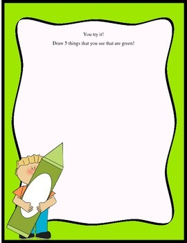 The Color GREEN Preschool Activity