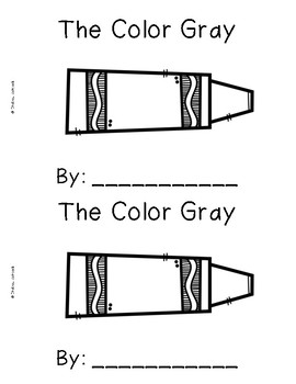 The Color Gray {Emergent Readers & Posters}