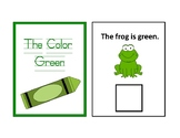 The Color Green Adapted Book - Differentiated - interactive