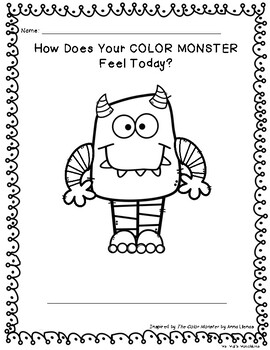 The Color Monster Printable