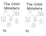 The Color Monsters printable sight word reader