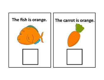 The Color Orange Adapted Book - Differentiated - interactive