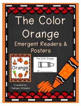 The Color Orange {Emergent Readers & Posters}