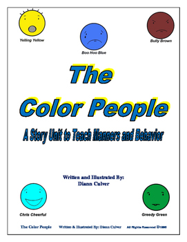 The Color People - A Story Unit to Teach Manners and Behavior