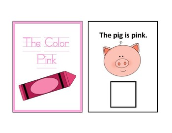The Color Pink Adapted Book - Differentiated - interactive