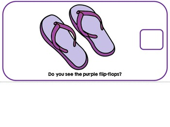 The Color Purple- Adapted Interactive Book {Autism, Early Childhood, Special Ed}