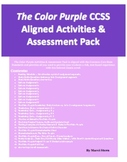 The Color Purple CCSS Aligned Activities & Assessment Pack