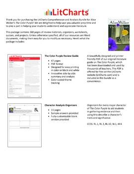 The Color Purple – Comprehension and Analysis Bundle