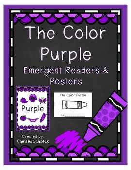 The Color Purple {Emergent Readers & Posters}