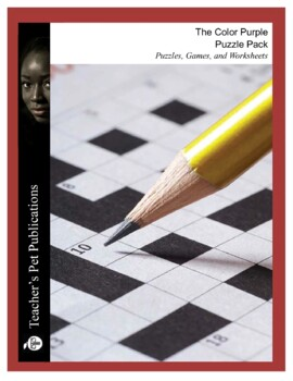The Color Purple: Puzzle Pack - Crosswords, Worksheets, Games