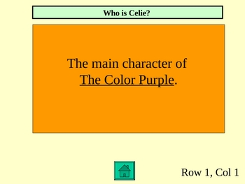 The Color Purple Review Jeopardy Game