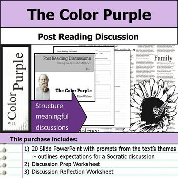 The Color Purple - Socratic Method - Post Reading Discussions
