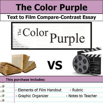 The Color Purple - Text to Film Essay Bundle