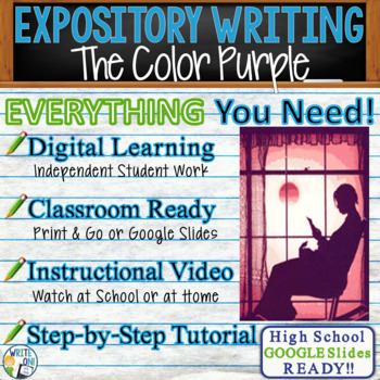 The Color Purple by Alice Walker - Text Dependent Analysis Expository Writing