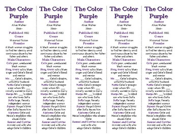 The Color Purple edition of Bookmarks Plus: Fun Freebie & A Handy Reading Aid!