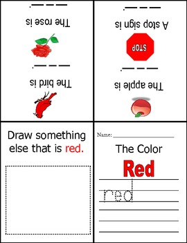 The Color Red - A Mini Book