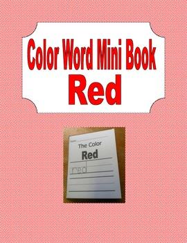 The Color Red - A Mini Book