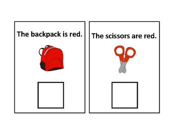 The Color Red Adapted Book - differentiated - interactive #thankyou17