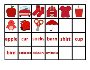 The Color Red Adapted Book - differentiated - interactive