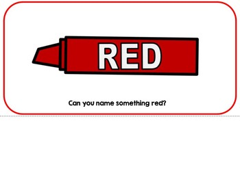 The Color Red- Adapted Interactive Book {Autism, Early Childhood, Special Ed}