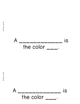 The Color Red {Emergent Readers & Posters}