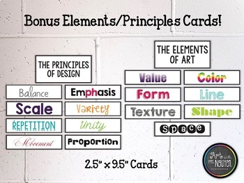 basic set of visual arts posters color wheel elements