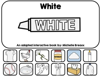 The Color White- Adapted Interactive Book {Autism, Early C