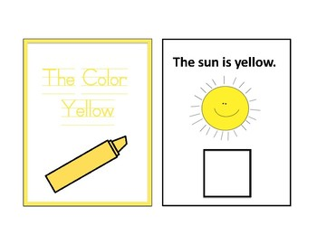 The Color Yellow Adapted Book - Differentiated - interactive #thankyou17