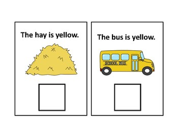The Color Yellow Adapted Book - Differentiated - interactive