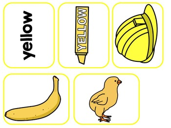 The Color Yellow- Adapted Interactive Book {Autism, Early Childhood, SPED}