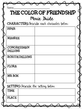 The Color of Friendship Movie Guide, Apartheid, Civil Rights, Mandela