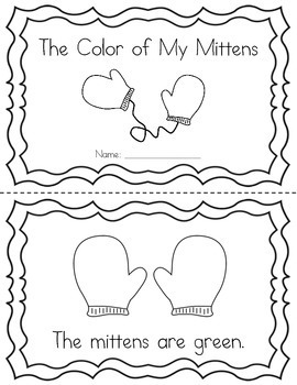 The Color of My Mittens: Emergent Printable Reader