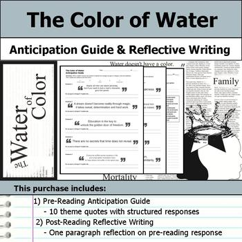 The Color of Water - Anticipation Guide & Reflection Writing