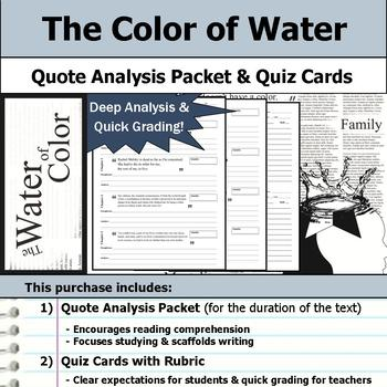 The Color of Water - Quote Analysis & Reading Quizzes