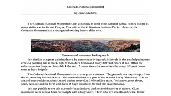 The Colorada National Monument Powerpoint