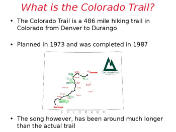 The Colorado Trail Sing-Along