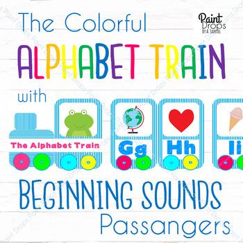 The ALPHABET TRAIN with BEGINNING SOUNDS Passengers {Classroom Decor}